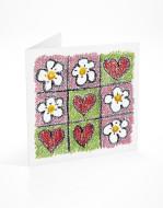 PFL 743 postal flores corações-mont