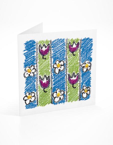 PFL 745 postal flores com riscas-mont